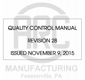ARC Manufacturing Manual